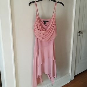 Asymmetrica/High Lowl Arden B Dusty Rose Dress